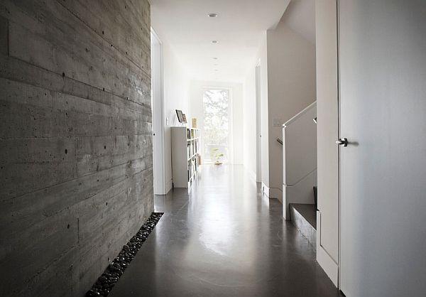 hallway concrete wall