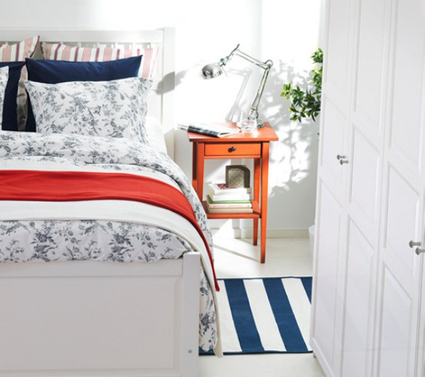 blue and range ikea bedroom