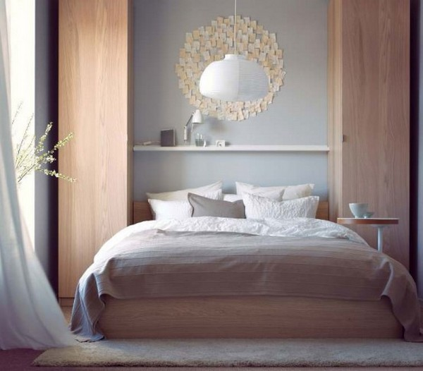 10 ikea bedrooms you 39 d actually want to sleep in for Small neutral bedroom ideas