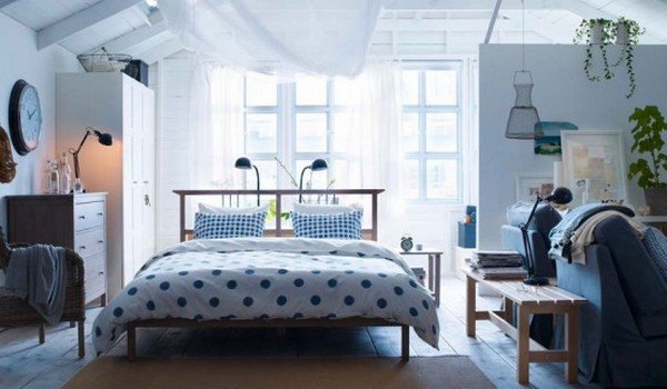 view in gallery polka dot neutral ikea bedroom - Ikea Room Design Ideas