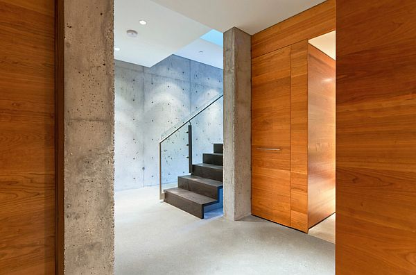 indoors concrete walls