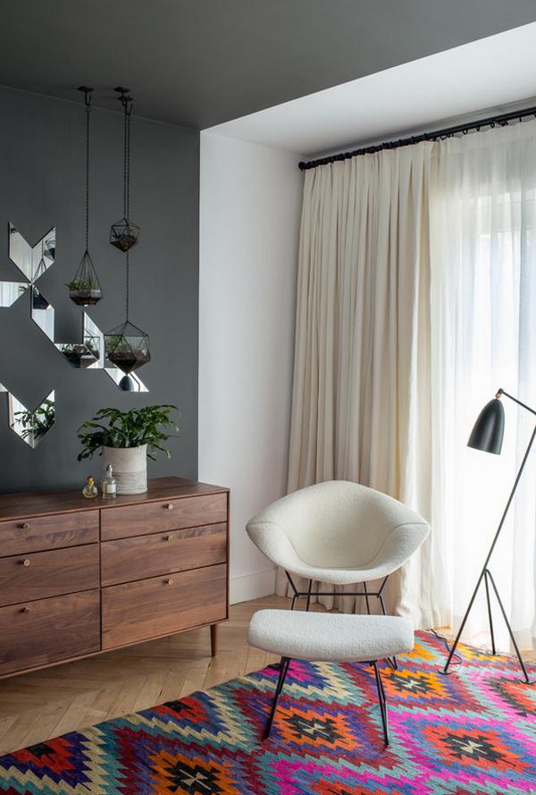 kilim rug modern room