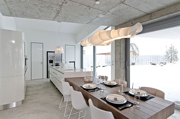 kitchen concrete interior design