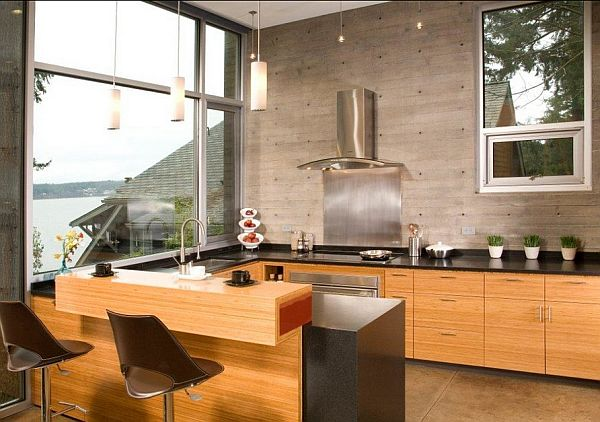 kitchen concrete wall