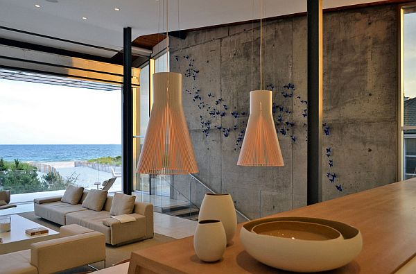 lovely concrete wall and sea view