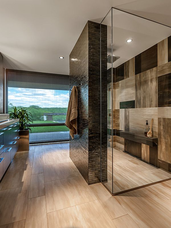 luxury bathroom tile wall