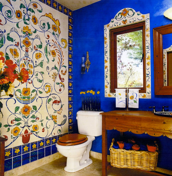 Beautiful decor ideas from latin america for Mexican themed bathroom ideas