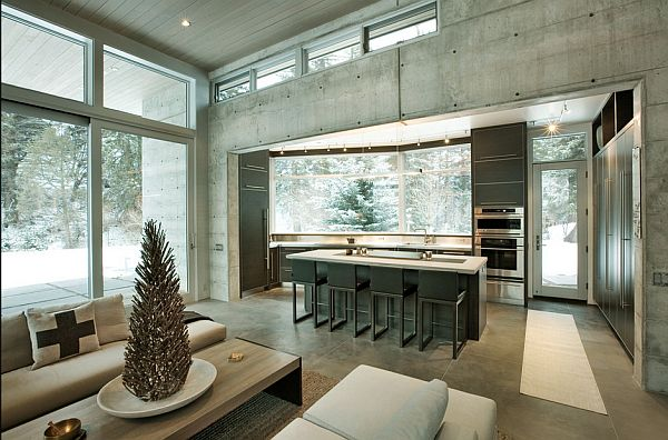 mountain retreat- concrete walls