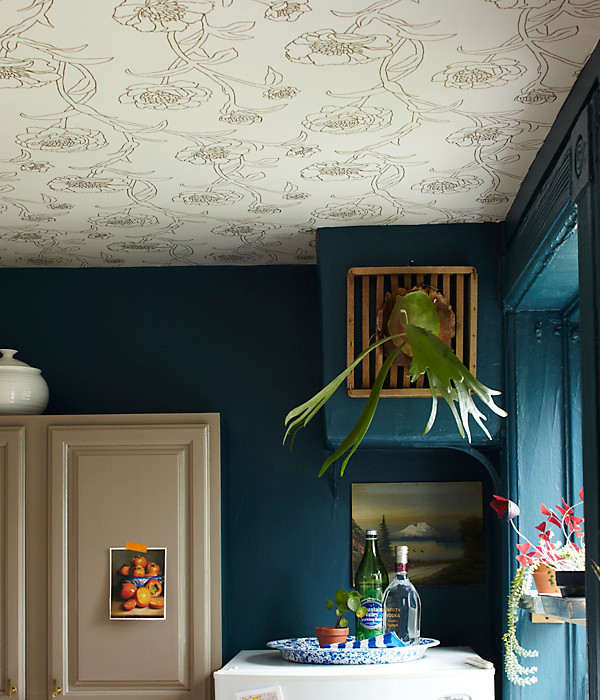 Space Wallpaper Ceiling one kings lane Design Trend Wallpaper Featured On The Ceiling