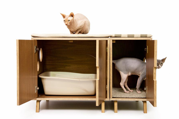 Modern pet furniture that will look great in your home - Modern cat litter box furniture ...