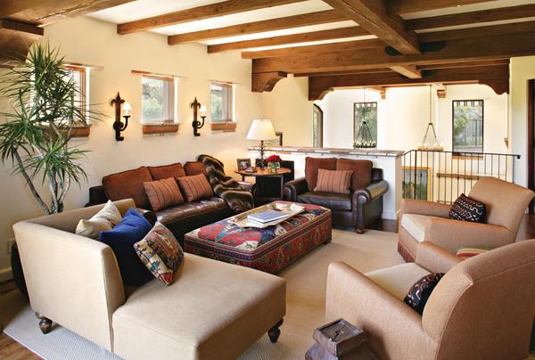 spanish style kilim ottoman