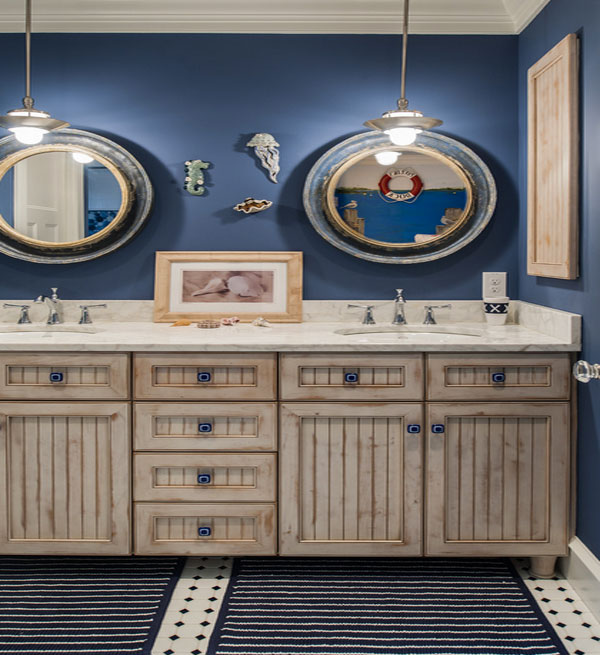 12 nautical decor ideas for Accessoires salle de bain theme mer