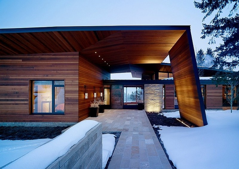 winter house Stunning Wyoming Butte Compound Features Contemporary Design And Panoramic Views