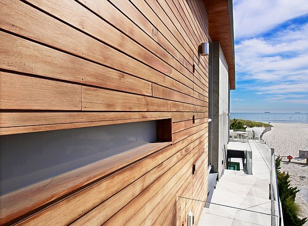 wood and concrete walls