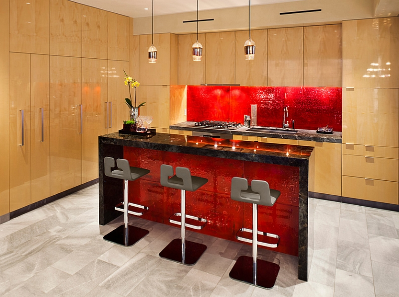 kitchen backsplash ideas a splattering of the most black counter red backsplash kitchen refresh