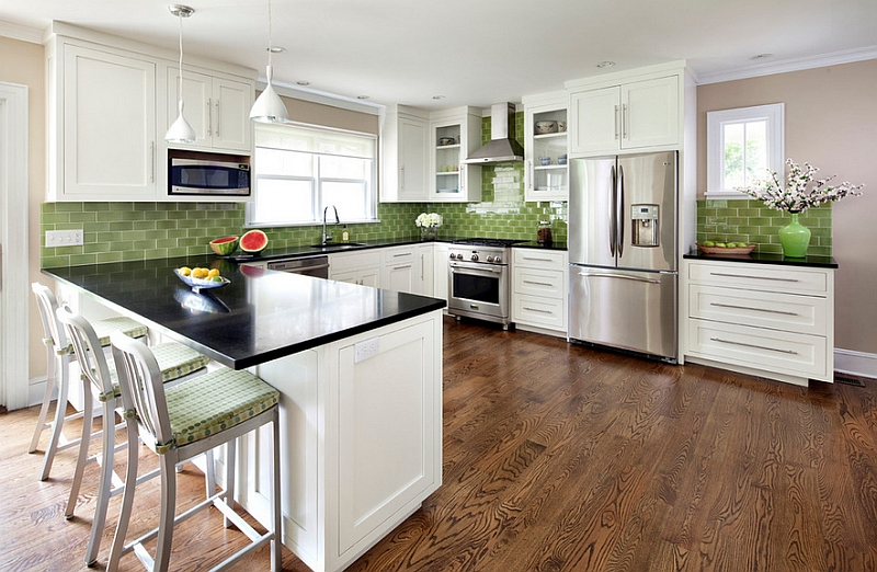 Kitchen backsplash ideas a splattering of the most What is the most popular kitchen cabinet color