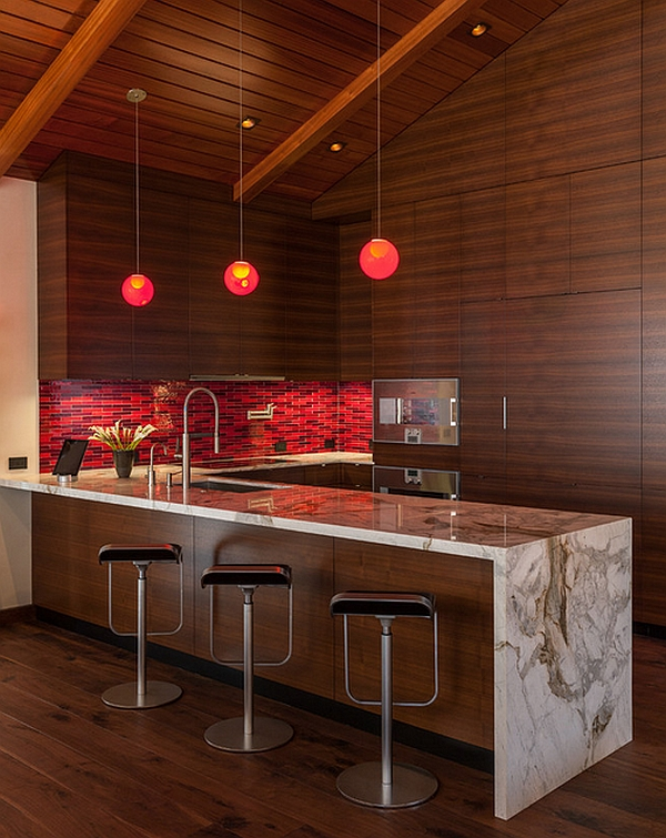 A closer look at the beautiful red backsplash