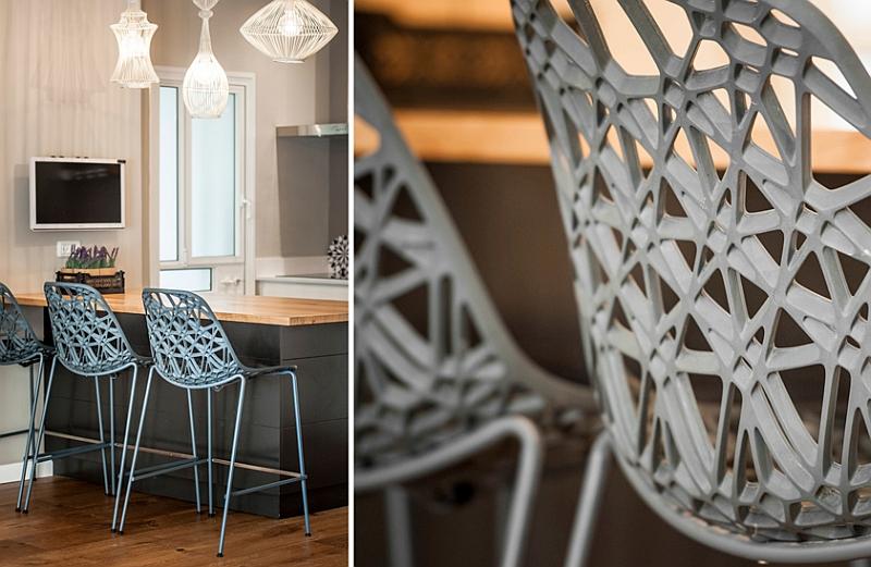 A closer look at the kitchen bar stools