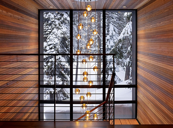 Lighting Basement Washroom Stairs: Dramatic Cascading Chandeliers Unleash Visual Splendor And