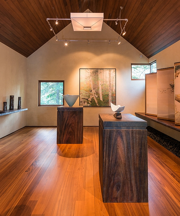 A look at the wood-filled gallery