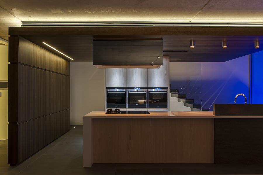 Ambient lighting takes over after dark