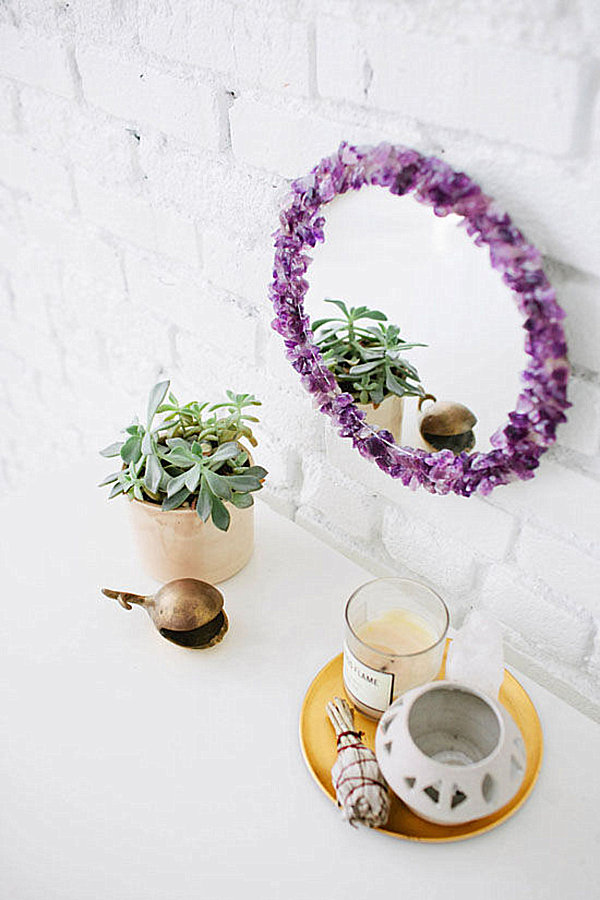 Amethyst mirror DIY project