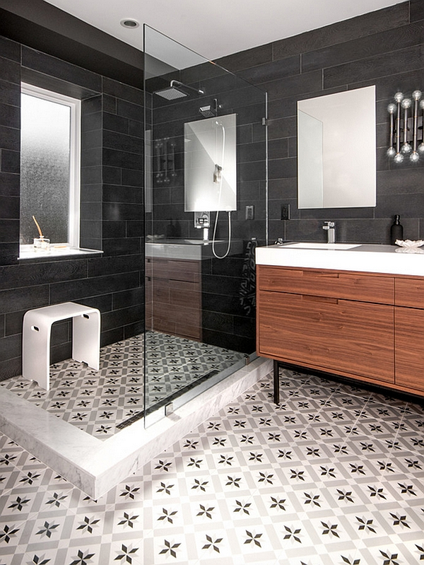 Latest Bathroom Tiles 2014 black and white bathrooms: design ideas, decor and accessories