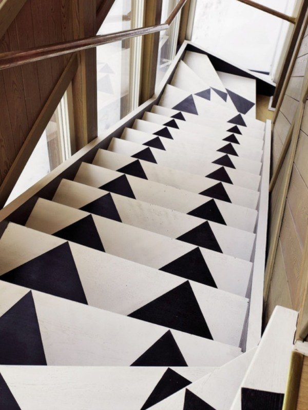Fabulous stair runners - Repeindre un escalier en blanc ...