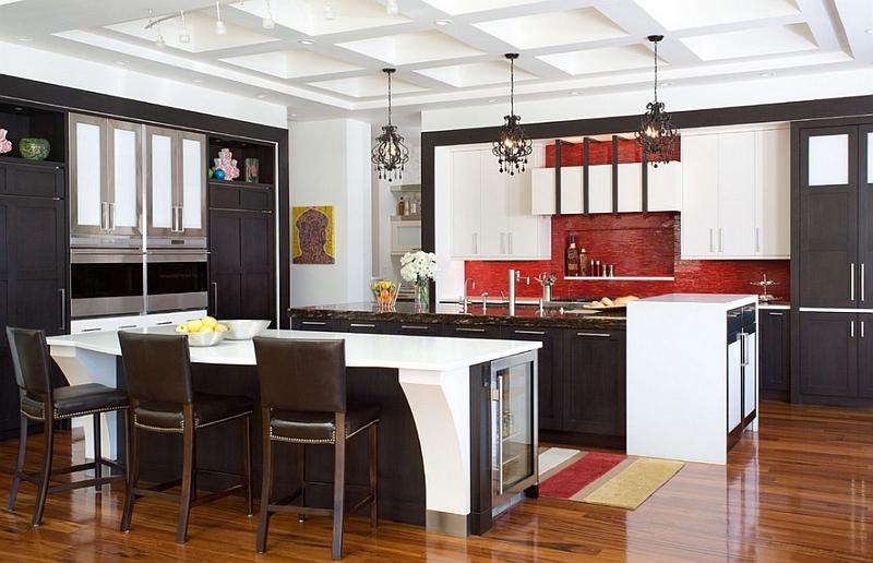Backsplash adds visual texture to this kitchen