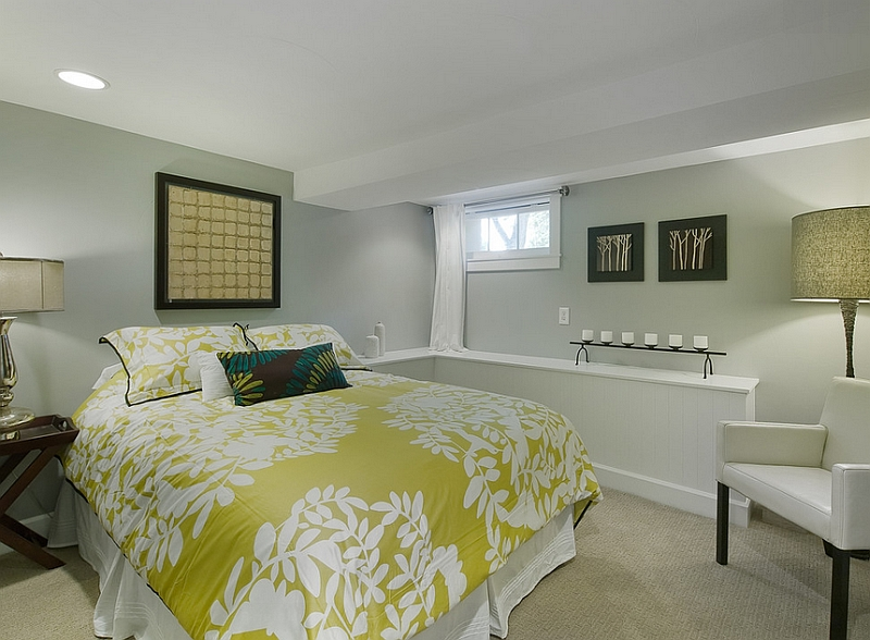 Genial View In Gallery Basement Bedroom With A Simple Color Scheme