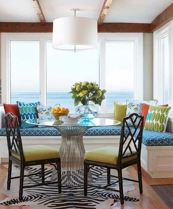 Beach style breakfast nook for the moden home