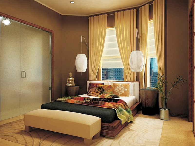 View In Gallery Beautiful Asian Themed Bedroom With Smart Lighting Good Ideas
