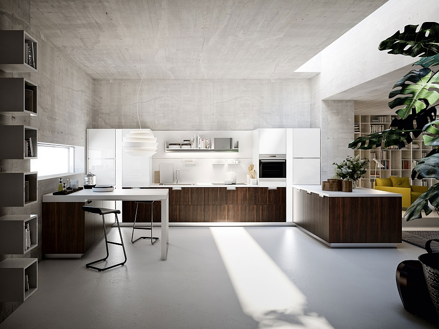 Beautiful Lux kitchen in smoked oak Sleek And Functional Italian Kitchen Exudes Radiant Charm