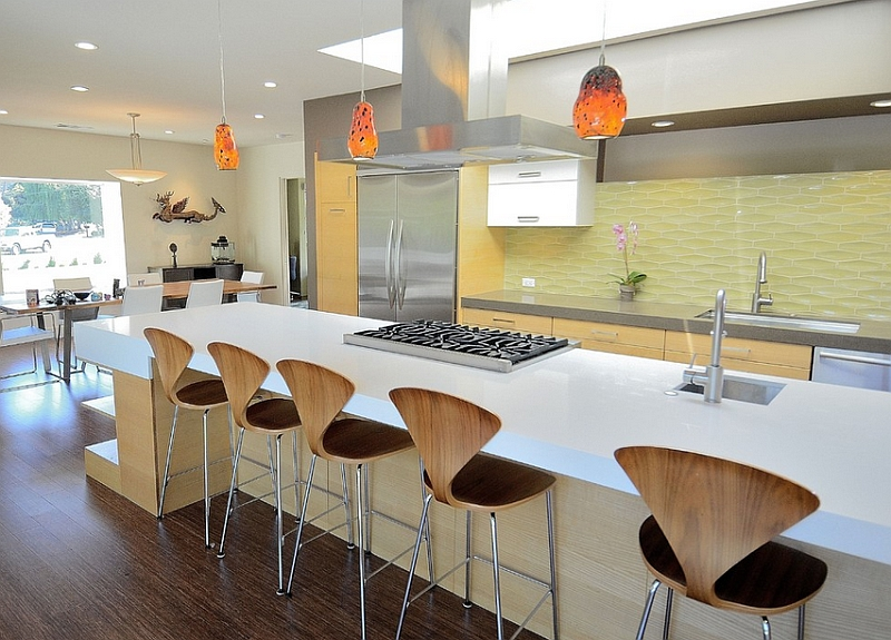 White Kitchen Yellow Backsplash kitchen backsplash ideas: a splattering of the most popular colors!