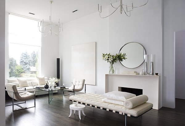 Beautiful minimalist home in white