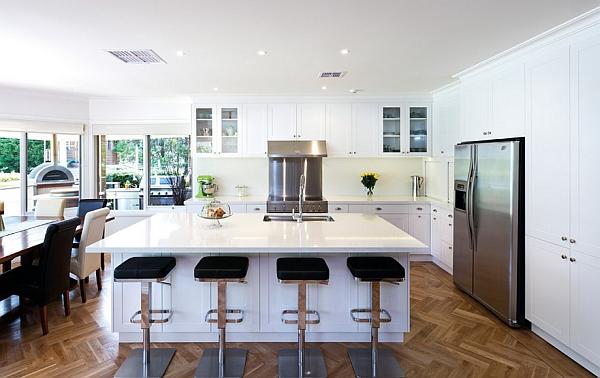 Beautiful transitional kitchen with a hint of semi-minimalism