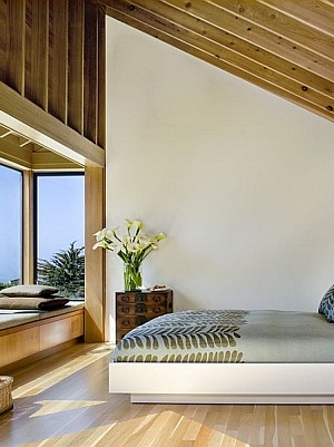 Bedroom of the Sea Ranch Residence in California