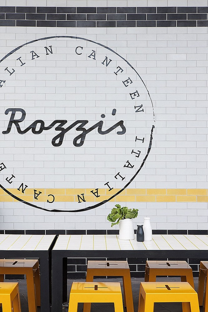 Brick wall styled extreior of the Rozzi's Italian Canteen