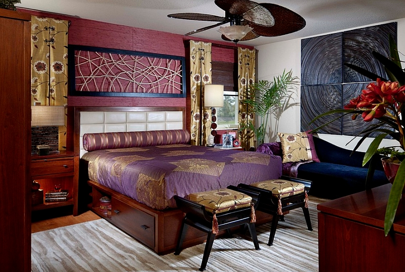 Asian inspired bedrooms design ideas pictures for Interior decorators zà rich