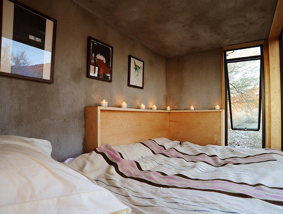 Candles offer lighting at night time in the lonely desert dwelling