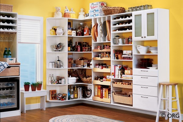 Colorful tidy pantry
