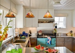 Colourful Stainless Steel Kitchen Design