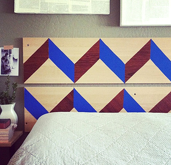 Contact paper headboard