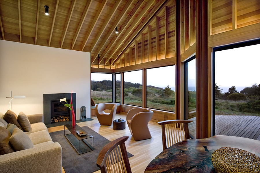 Contemporary decor inside the Sea Ranch Residence