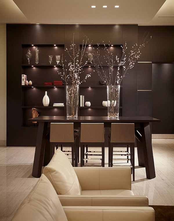 Contemporary dining table with oriental design
