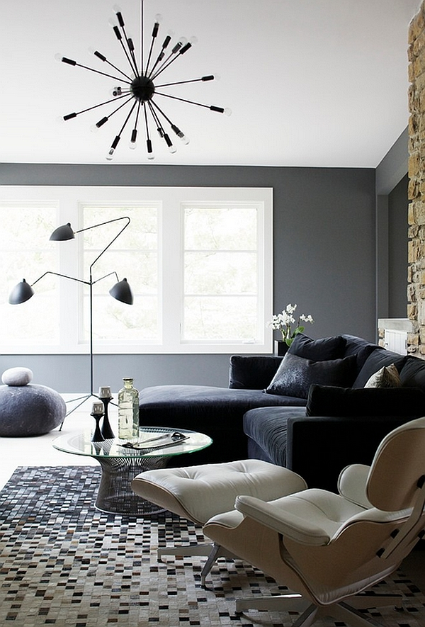 Cool Sputnik Pendant coupled with the Serge Mouille Floor Lamp