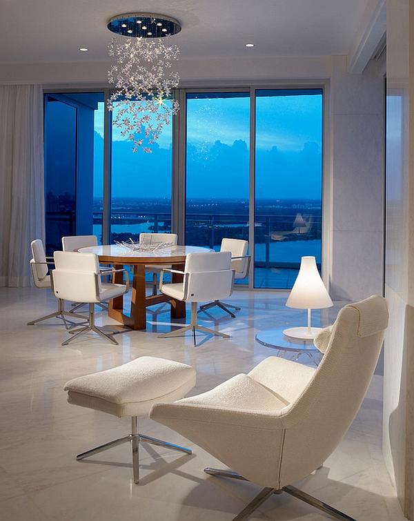 Cool contemporary home clad in pristine white