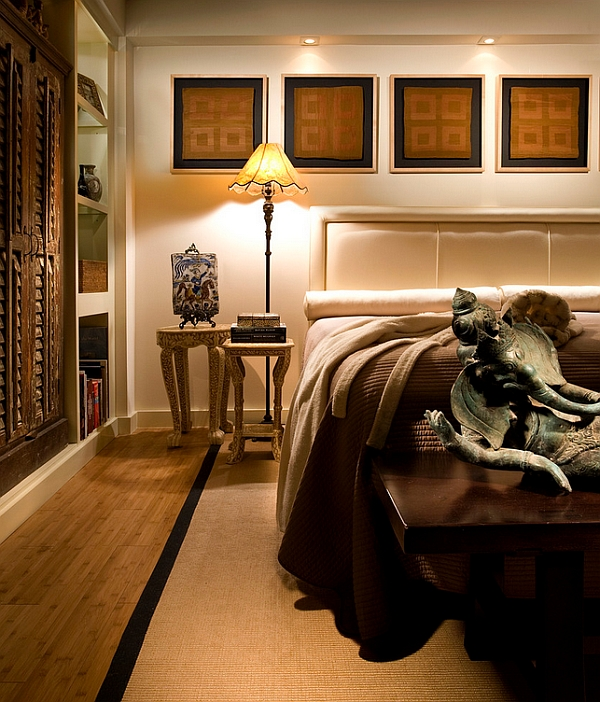 asian inspired master bedroom