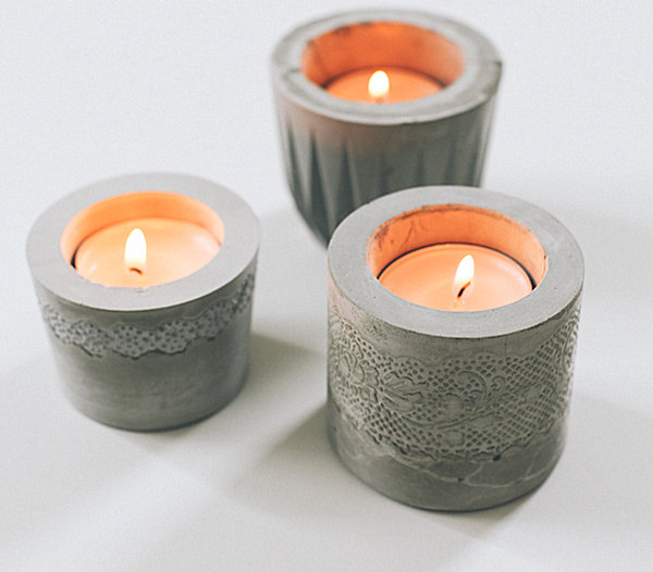 DIY cement votives