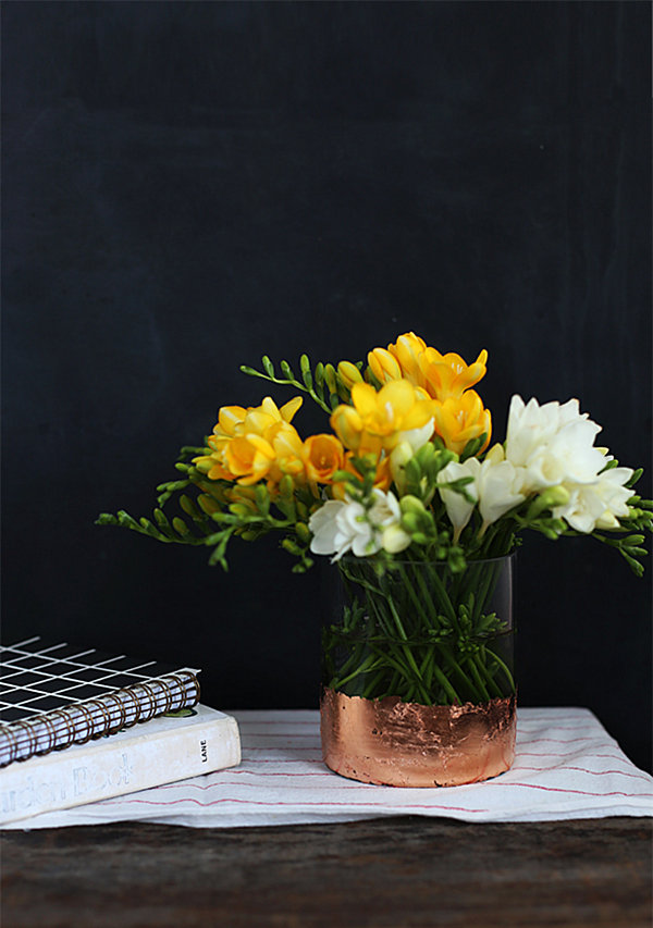 DIY gold-leaf vase